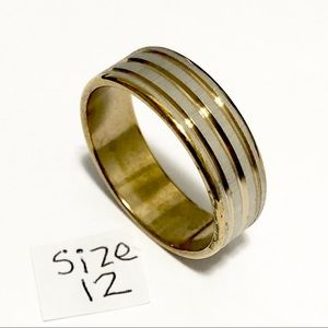 Jewelry - Gold and Silver Tone Ring, Size 12